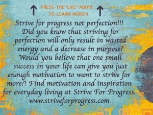 Image from the Welcome tab of the Strive For Progress facebook fan page.