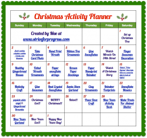 Mae's Christmas Homeschool & Activity Planners