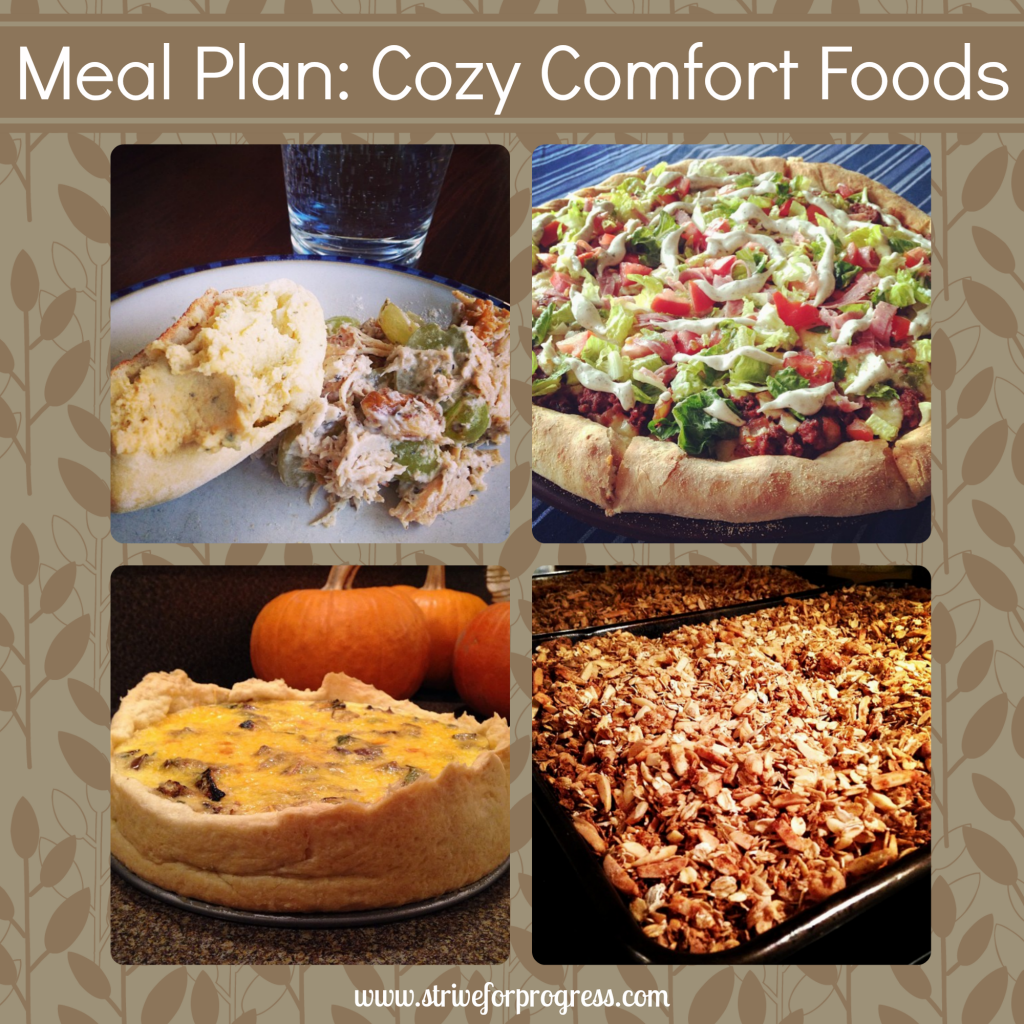 Meal Plan: Cozy Comfort Foods by Strive For Progress