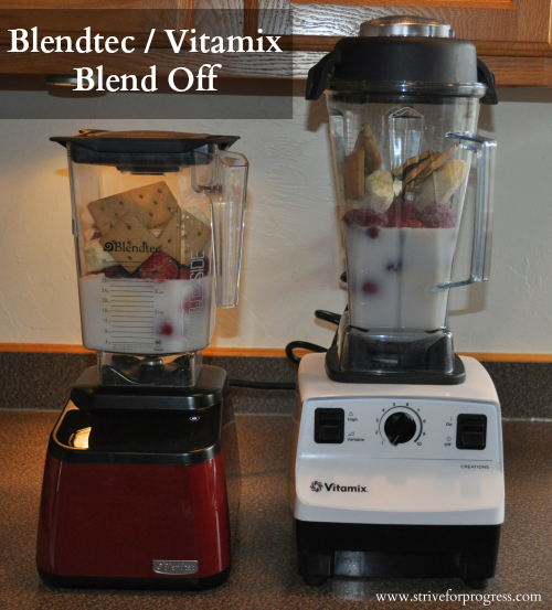 Blendtec / Vitamix Blend Off with a Diary Free Cheesecake Smoothie Recipe!  by www.striveforprogress.com