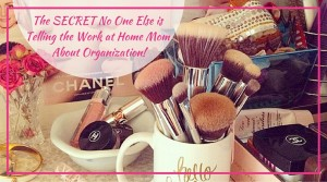 The SECRET No One Else is Telling the Work at Home Mom About Organization!