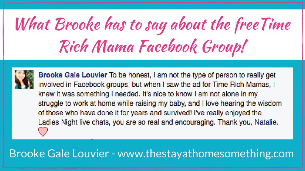 Join the Time Rich Mama FREE Community for Work at Home Moms!