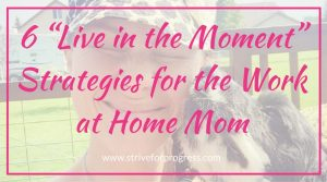 "6 ""Live in the Moment"" Strategies for the Work at Home Mom"
